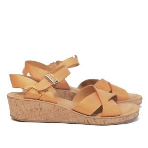 Kork Ease | Myrna 2.0 gold metallic small wedge